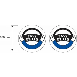 2x Pass Plus Registered Driving School Instructor Stickers DVSA ADI - 100mm Dia