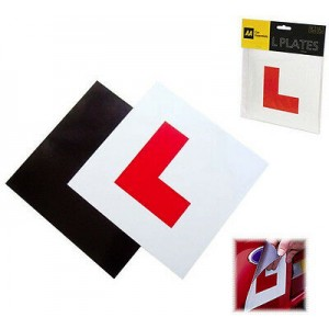 AA L PLATES FULLY MAGNETIC SECURE LEARNER DRIVER EXTERIOR CAR BIKE x 2